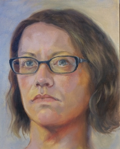 Vicki Cooke oil portrait